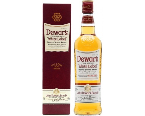 Виски Dewar's White Label gift box 0.7 л
