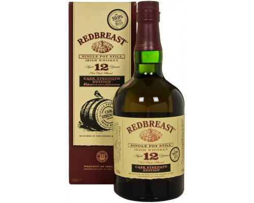 Виски Redbreast Cask Strength Edition 12 Years Old (599%) gift box 0.7 л
