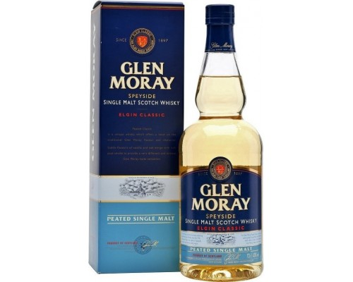 Виски Glen Moray Peated Elgin Classic gift box 0.7 л