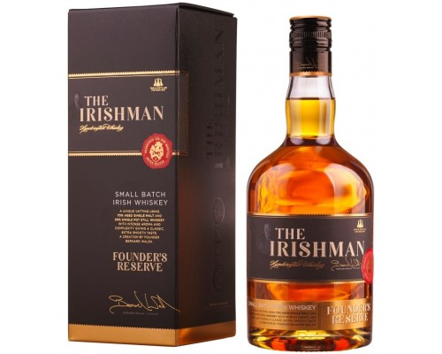 Виски The Irishman Founder's Reserve gift box 0.7 л