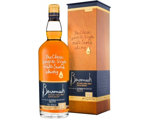 Виски Benromach 15 Years Old gift box 0.7 л