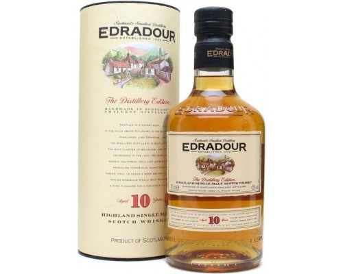 Виски Edradour 10 Years Old gift box 0.7 л