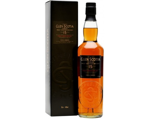 Виски Glen Scotia 15 Years Old gift box 0.7 л
