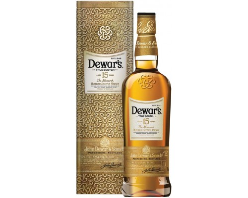 Виски Dewar's The Monarch 15 Years Old gift box 0.75 л