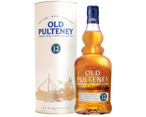 Виски Old Pulteney 12 years in tube 0.7 л