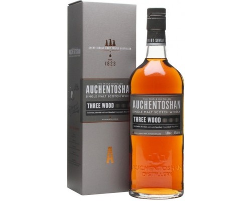 Виски Auchentoshan Three Wood gift box 0.7 л