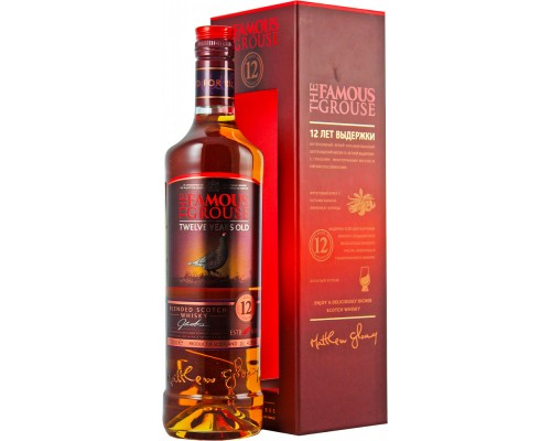 The Famous Grouse Malt Whisky aged 12 years gift box 0.7 л