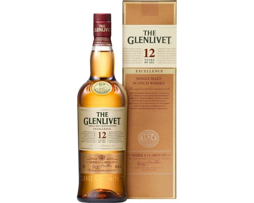 Виски The Glenlivet 12 Years Old Excellence gift box 0.7 л