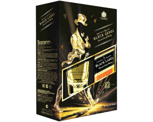 Виски Black Label gift box with glass 0.7 л