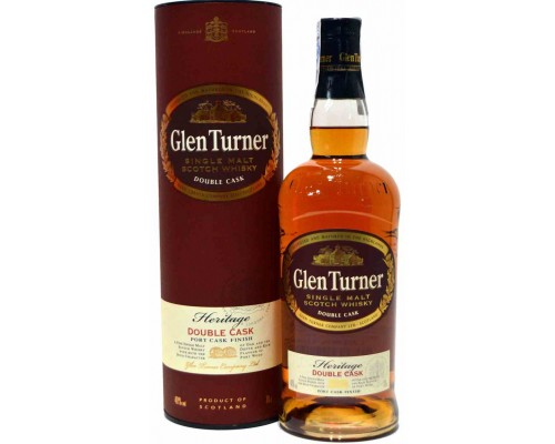 Виски Glen Turner Heritage Double Cask in tube 0.7 л