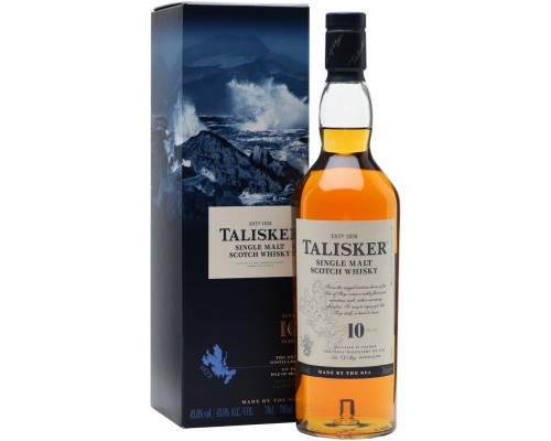 Виски Talisker malt 10 years old with box 0.7 л