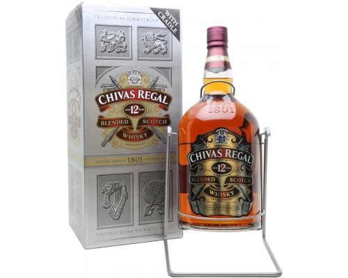 Виски Chivas Regal 12 years old with box 4.5 л