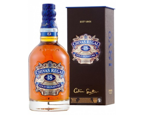 Виски Chivas Regal 18 years old with box 0.7 л
