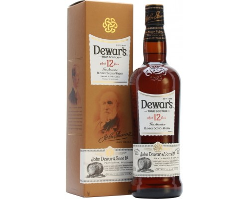 Виски Dewar's 12 years old in box 0.5 л