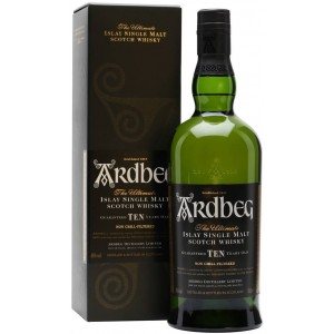 Виски Ardbeg 10 YO in gift box 0.7 л