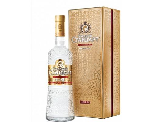 Водка Русский Стандарт Голд в подарочной коробке 0.7 л