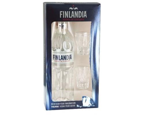 Водка Finlandia gift box with 2 shot glasses 0.7 л