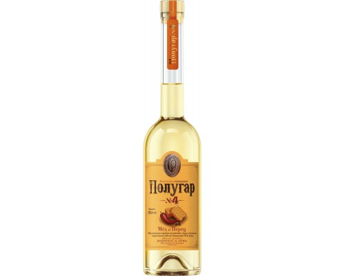 Водка Polugar №4 Honey & Allspice 1.5 л