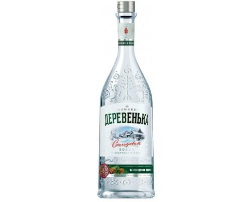 Водка Зимняя деревенька Кедровая на солодовом спирте 0.5 л