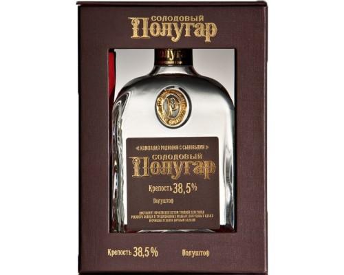 Водка Polugar Malt gift box 0.75 л