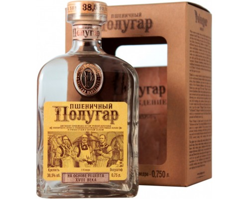 Водка Polugar Wheat gift box 0.75 л