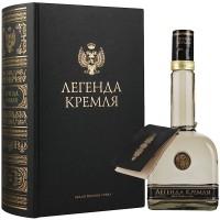 Водка Легенда Кремля в подарочной упаковке (фолиант) 50 мл