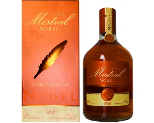 Водка Pisco Mistral Nobel gift box 0.75 л