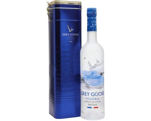 Водка Grey Goose metal box 0.7 л