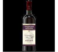 Вино АПХЫН красное полусладкое 0,75 л