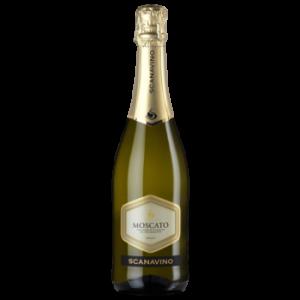Вино игристое Scanavino Moscato белое сладкое 0,75 л